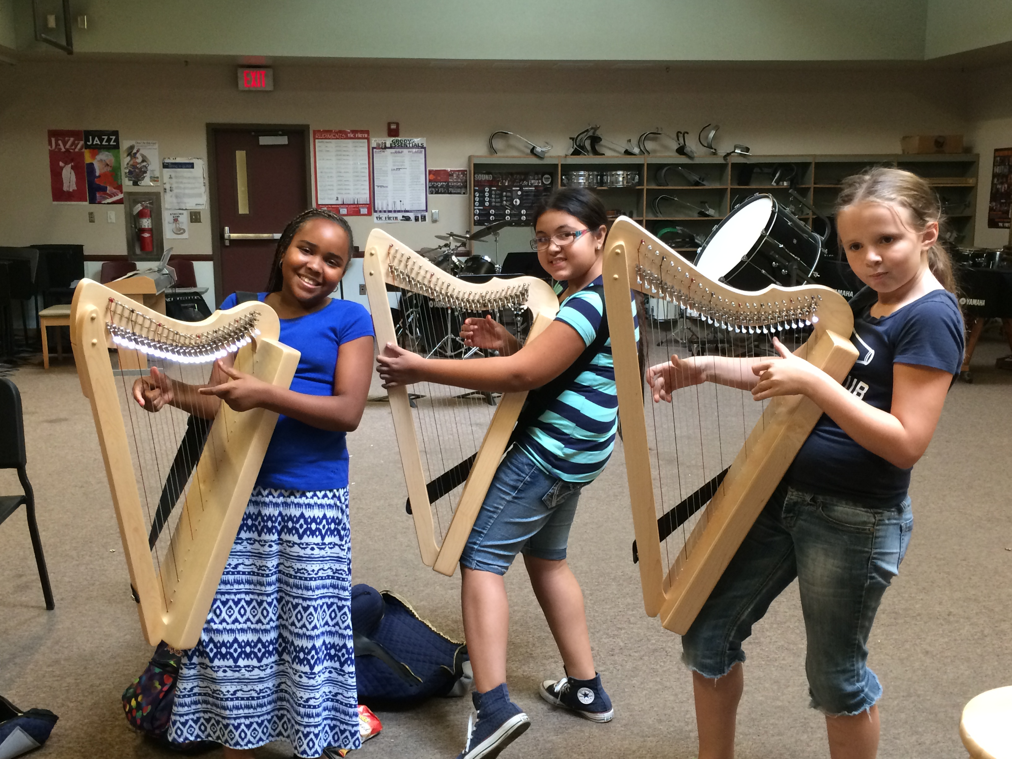 Harp students at Diamond Valley Middle School