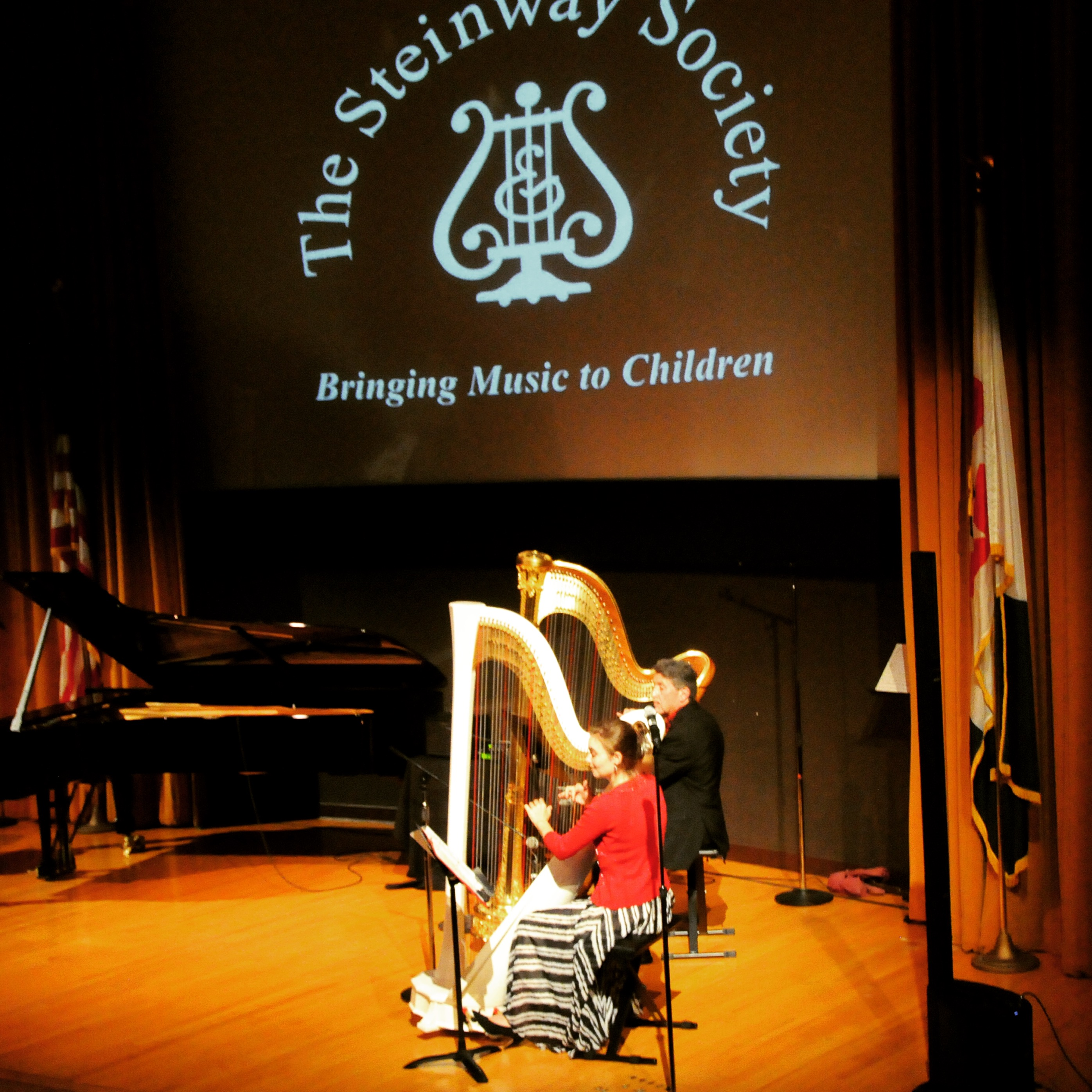 Fundraising concert with harp student