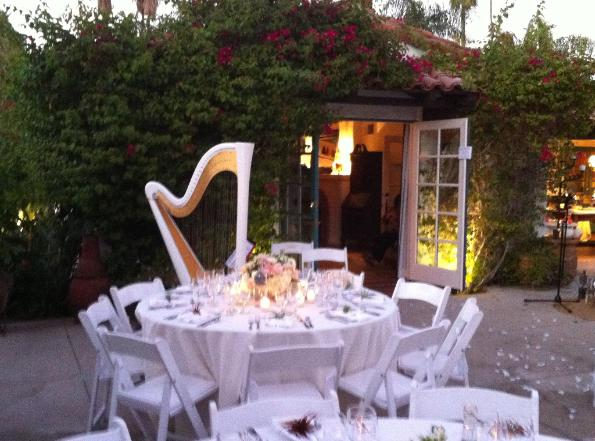 Harp Music for Palm Springs Wedding